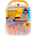 Image for Plasplugs Yellow Supergrip Fixings Qty 20 Yps472