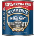 Image for Hammerite Metal Paint Smooth Black 33%Free 1Lt