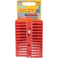 Image for Plasplugs Red Supergrip Fixings Clip Pack Qty 100 Srp502